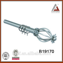 B19170 flor cortina rod finial, accesorios decorativos de la cortina,