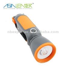 Lanterna de dínamo de toque elétrico estilo estilo de 3 maneiras
