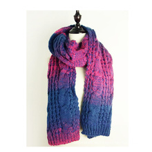 Womens Twist Pattern gestrickte Schal Winter Wrap Schal Schal (SK105)