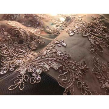 3 in 1 cord tulle lace embroidery