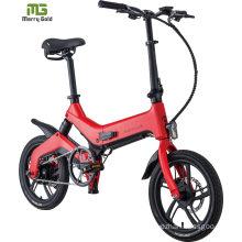 Hot Sale Alloy Frame Folding Bike 16 Inch Small Electric Bike Bicycle