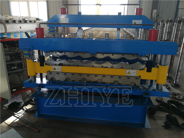 Galvanized Steel Glazed Tile Roof Panel Machine