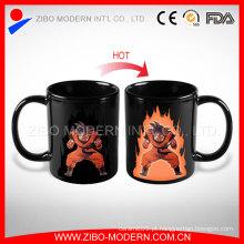 Hot venda sensível ao calor caneca mágica, cor mudando a caneca para o presente da promoção