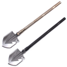 Camping Hiking Outdoor Shovel Multifunction Folding Aluminum Alloy Shovel Traveling Emergent Tools Survival Folding Spade Tool