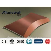 Panel compuesto de cobre de 3 mm y 4 mm CCP con una fábrica china de un ancho máximo de 2,03 metros