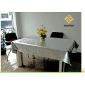 PVC Siliver Embossed Tablecloth with Fabric Backing