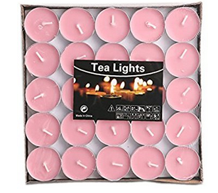 Color tealight candles