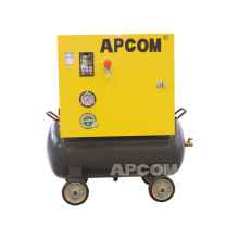 Apcom low noise 0.5m3/min 18 cfcm 8bar 5.5 hp 4kw screw air compressor 4 kw