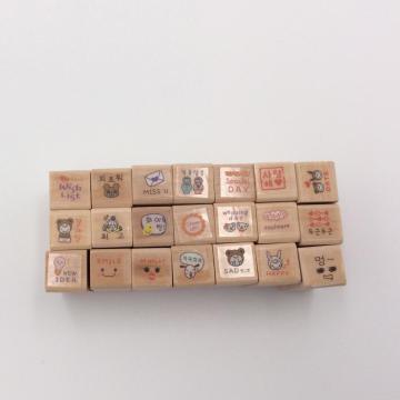 manijas estampadas de madera