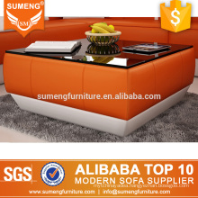 SUMENG foshan orange color coffee table modern design for home use