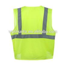 Chaleco reflectante de seguridad de estilo americano fluorecent amarillo de malla