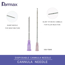 Micro Cannula for Hyaluronic Acid Injection