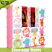 12 Cubes Free Standing Bedroom Cheap Foldable Kids Wardrobe