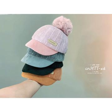 Tecido de chenille crianças inverno chapéus boné de basquete
