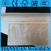 Madeira compensada comercial do carvalho do vidoeiro / carvalho de 1220 * 2440mm, madeira compensada comercial de 3.6mm