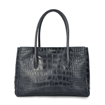 Lady Felt Bag Leather Purse with Zipper Tote