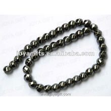 """12x12MM Loose Magnetic Hematite 6Faced Twist Beads 16 """""""
