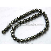 12x12MM Loose Hematite 8 Faced Twist Beads 16""