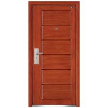porta de madeira aço blindada