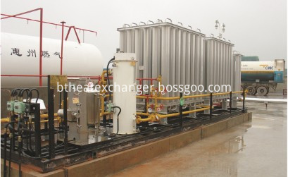LNG TANKER VAPORIZER SKID FOR EMERGENCY APPLICATION