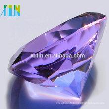Bijoux en cristal de diamant en verre 80mm pour des cadeaux indiens de mariage pour des invités