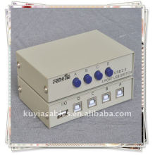 4 Port USB 2.0 Escáner de PC Comparte la impresora Switch Box