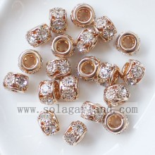 Best Quality for Metal Gallery Beads 8MM Metal Spacer Disco Beads Crystal Rhinestone Bulk Beads Charms export to Tonga Supplier