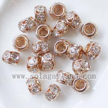 8MM Metal Spacer Disco Beads Crystal Rhinestone Bulk Beads Charms