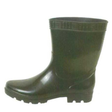 Short Black Pvc Rain Boots For Men