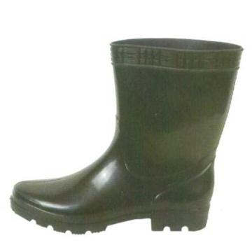 Kurze schwarze Pvc-Regen Stiefel für Männer