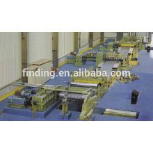 línea de corte longitudinal de la bobina de completamente automático acero de alta precisión