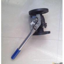 Válvulas de bola con brida Homing automático de acero al carbono 2-PC