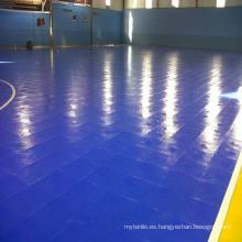 Nuevo producto 2017 con el piso de enclavamiento de alta calidad del PVC / PP interior para la corte del fútbol / Futsal