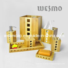 Two-Tone Bamboo Bathroom Set (WBB0611A)