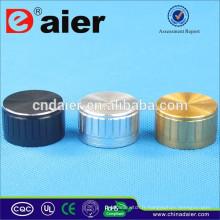 Boutons d'amplis AL-18T, 6 mm, moletés, en aluminium brossé