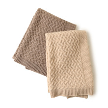 Twisted flower knitted baby cashmere blanket