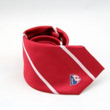 Cravate d'affaires mens cravate de polyester jacquard rayé formel