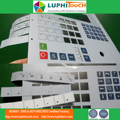 Pocket Structure Stainless Steel Backer Membrane Keypad