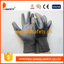 Black Nylon with Grey Nitrile Glove-Dnn410