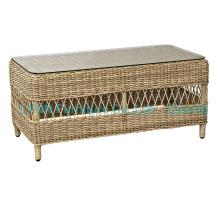 Mesa redonda de Rattan para o sofá ao ar livre