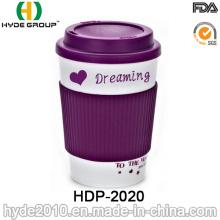 Taza de café plástica de la pared doble libre de las ventas calientes BPA (HDP-2020)
