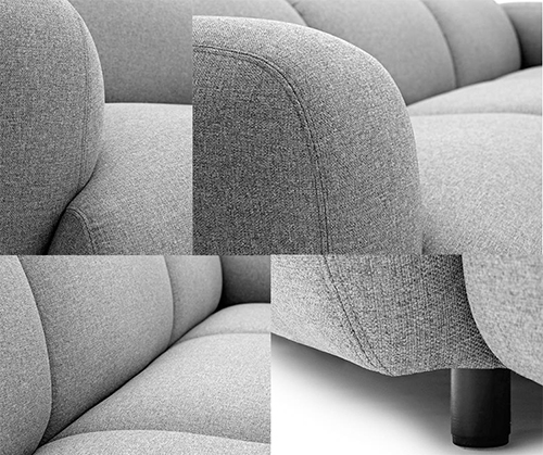 Two Seater Fabric Sofa