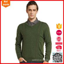 Suéter de cuello de invierno v cuello de los hombres de cachemira nuevo diseño