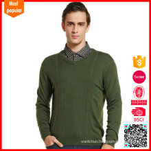 New design Cashmere men's v neck winter pullover sweater