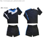100% poly knitted men's soccer tracksuit for autumn,long sleeves