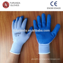 Baumwoll-Strick-Strickhandschuhe beschichtete Latex-Handflächen-Sicherheitshandschuhe
