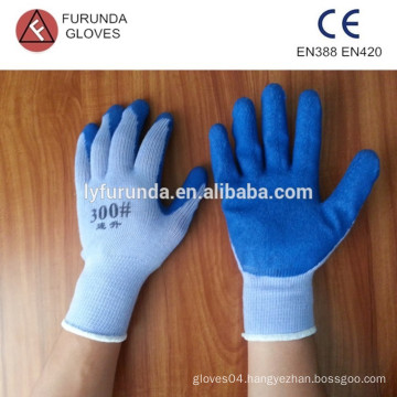 cotton string knit gloves coated latex palm safety work gloves