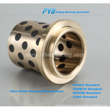 Oiles 500 self lubricating bearing, Oilless Guide bushing bearing supplier, graphite sleeve bush bearing