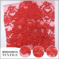 Broderie de mode en gros personnalisé robe de mariée rouge dentelle