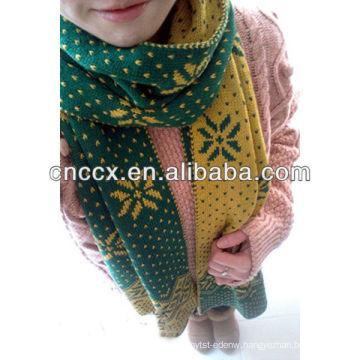PK17ST333 ladies fashionable christmas design scarf